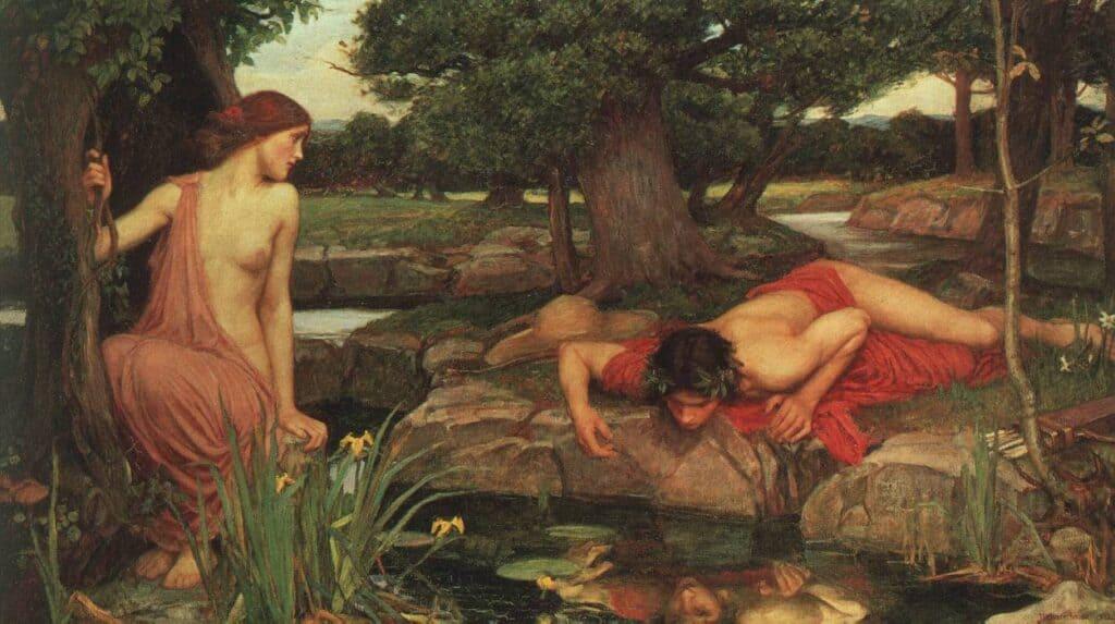 Echo et Narcisse, John Williams Waterhouse, 1903, conservé à la Walker Art Gallery.