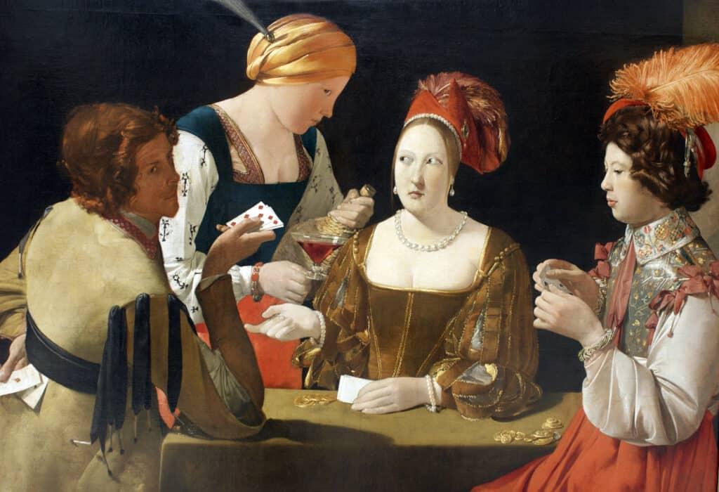scène de genre technique peinture à l'huile