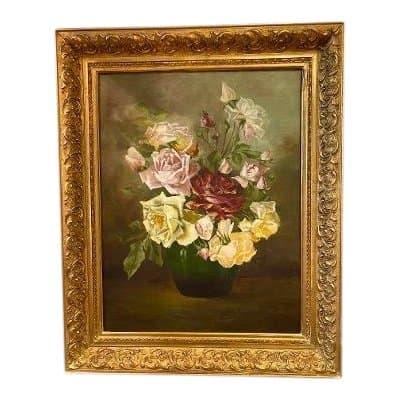 bouquet peinture à l'huile