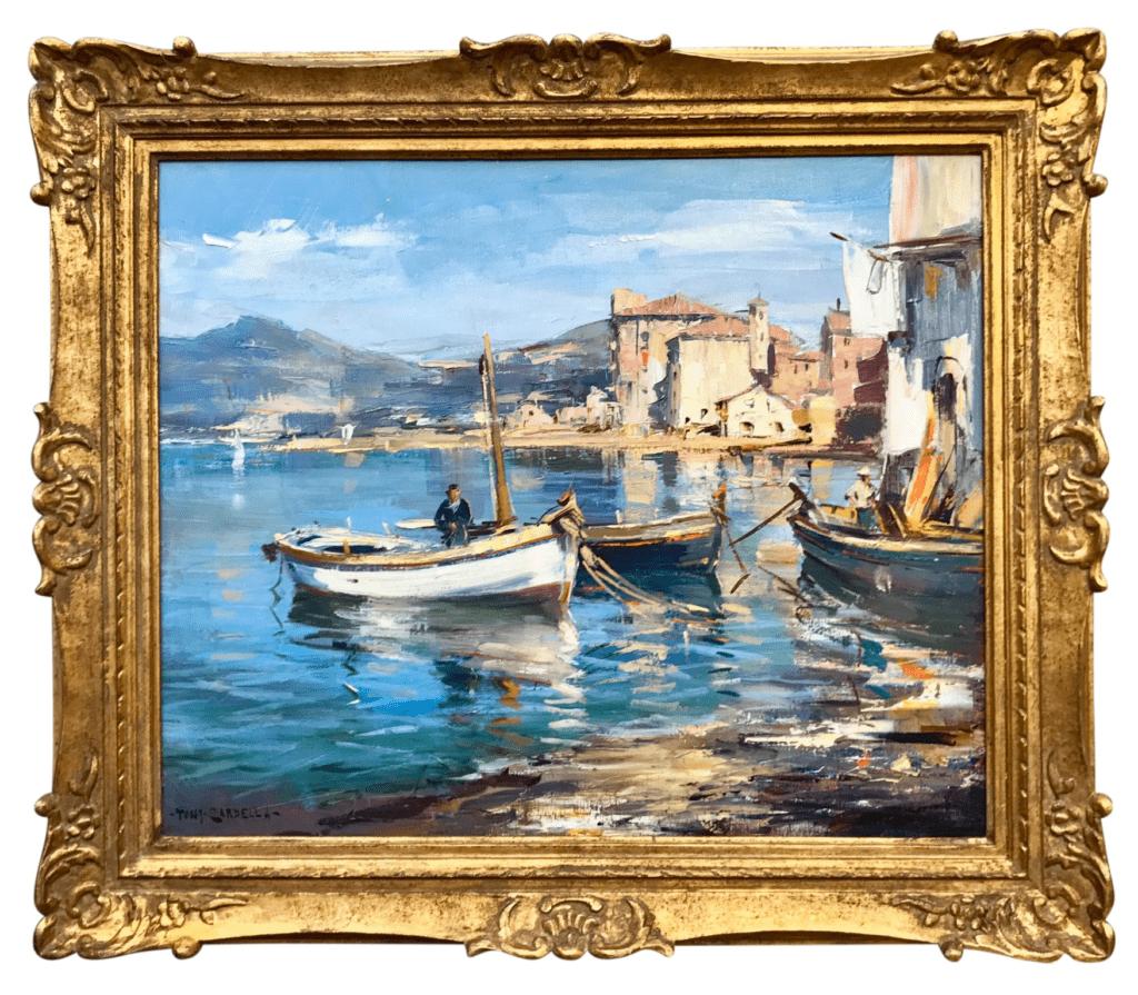 paysage technique peinture à l'huile