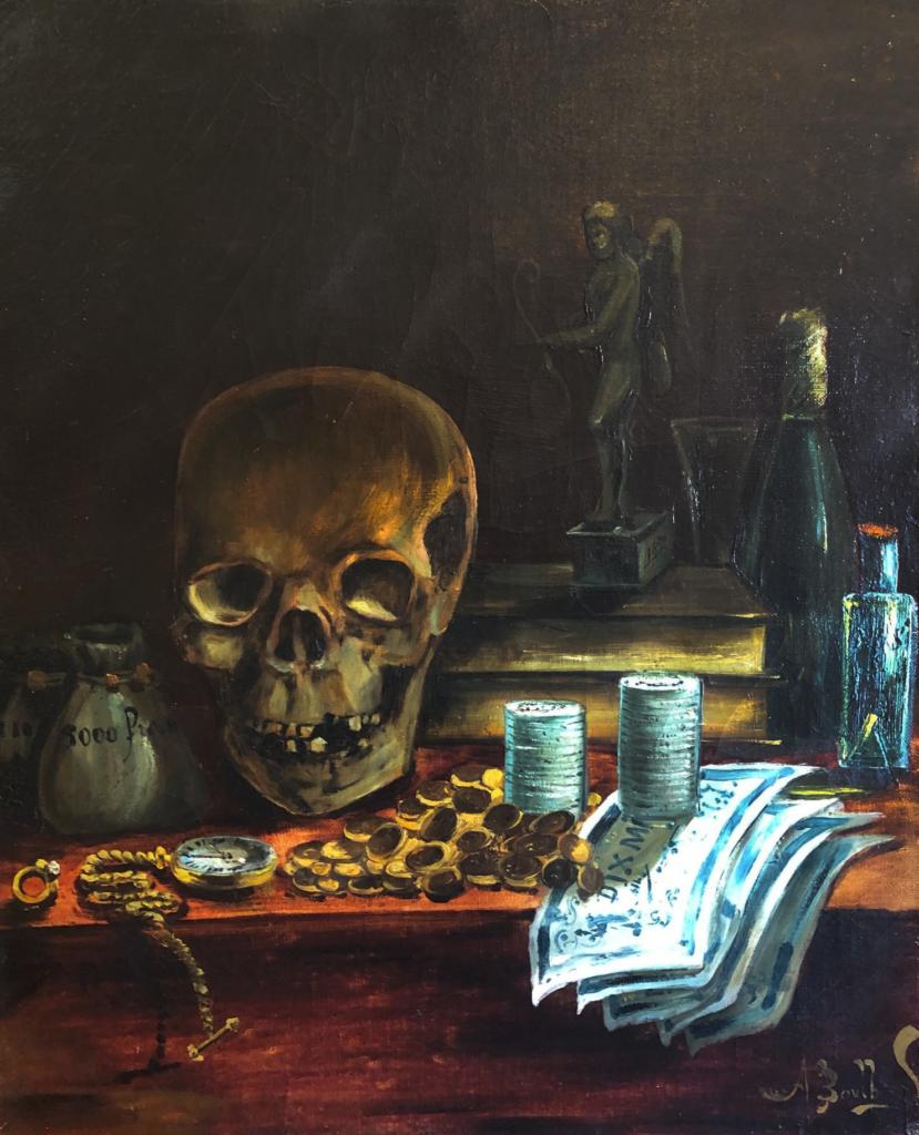 vanité technique peinture à l'huile