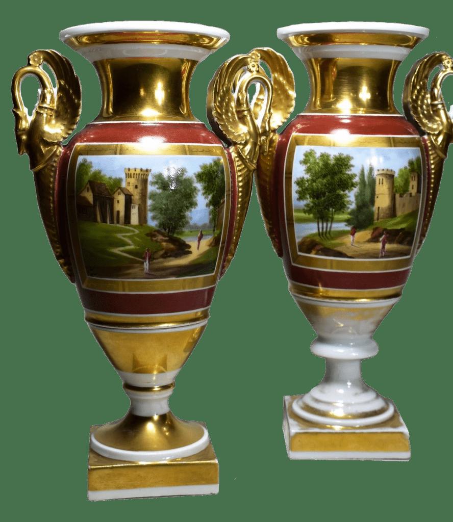 paire de vase en porcelaine