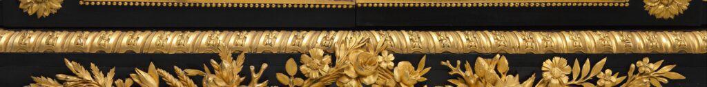 Frise Louis XVI. Bronze doré. Feuillages.