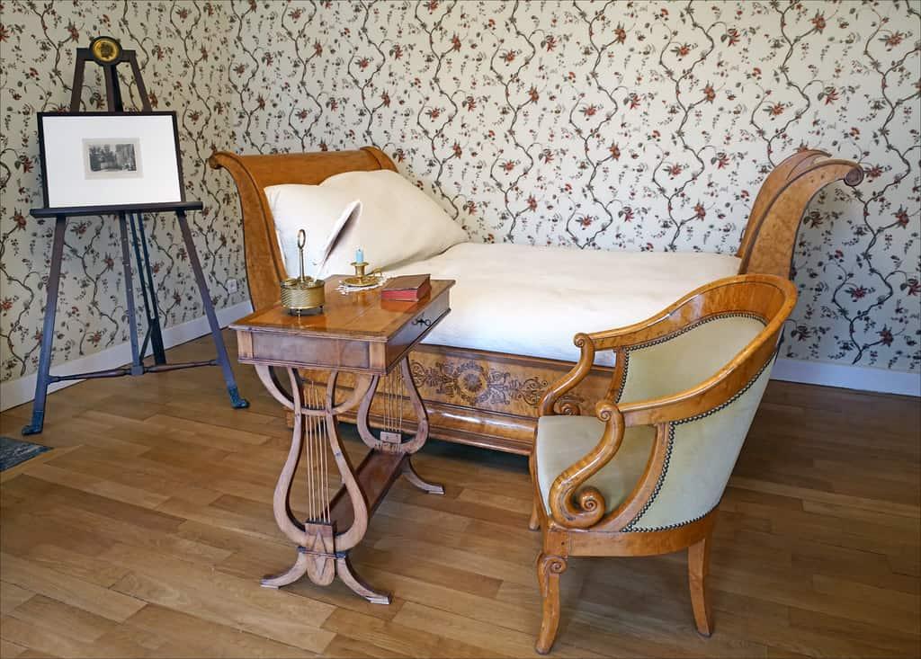 Chambre de Juliette de Récamier. Mobilier Charles X.