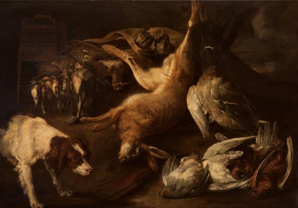 Nature morte flamande. XVIIe siècle. Gibier.