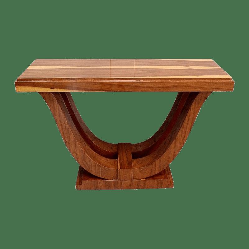 Table Art déco, piétement convexe.