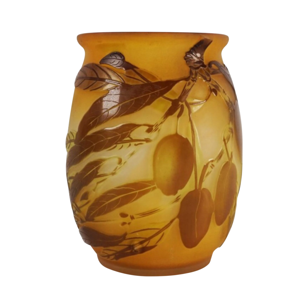 Vase Gallé gravé à l'acide.