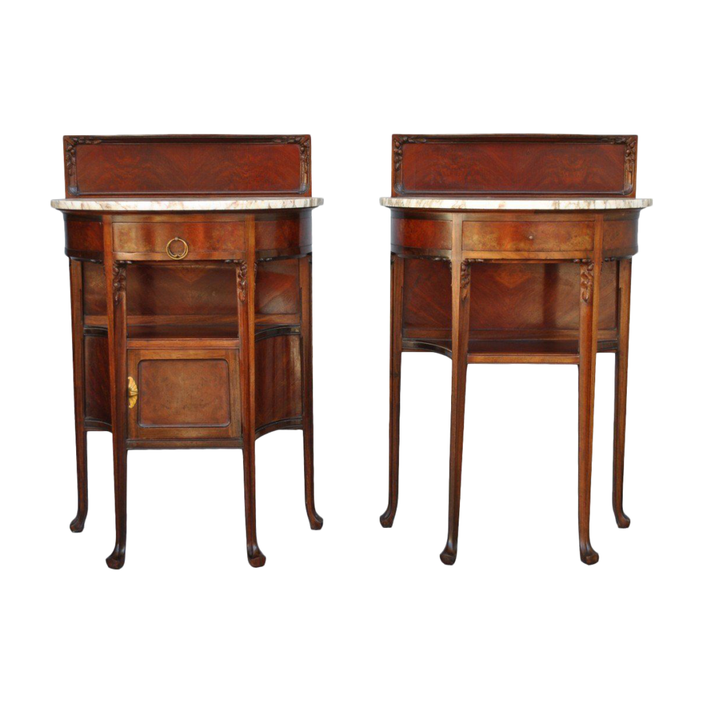 Paire de tables de chevets Art nouveau.