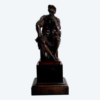 Bronze de Laurent de Médicis, d'après Michel-Ange – XIXe