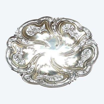 Magnificent openwork cup on Art Nouveau pedestal in solid silver, hallmark