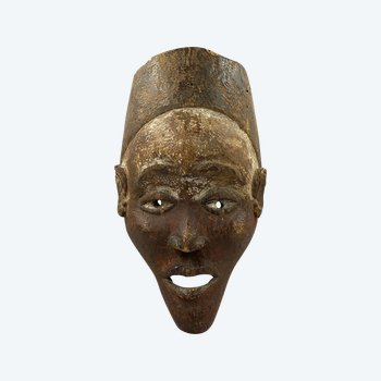 MASQUE ANTHROPOMOPRHE Culture Mangbetu, République démocratique du Congo Première moitié du XXème siècle