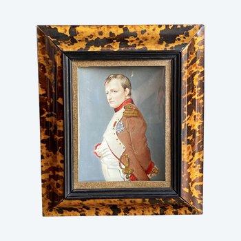 DUMONT François (1751-1831) Napoléon Bonaparte Miniature sur ivoire