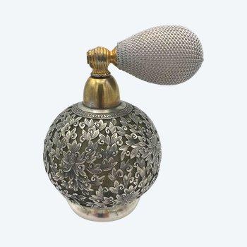 Vaporisateur à parfum verre et argent