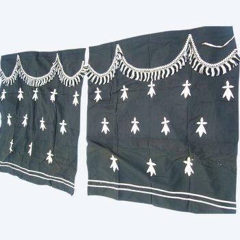 Paire de rideaux pour corbillard, époque fin XIXe siècle
