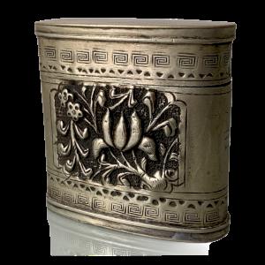 Silver Alloy Opium Box