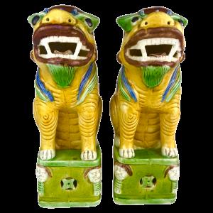 Paar chinesische Keramik-Chimäre
