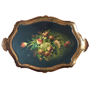 Plateau Napoléon III à Décor De Fleurs