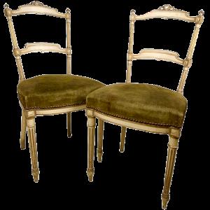 Paar Stühle im Stil von Napoleon III. Louis XVI