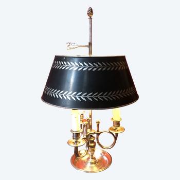Wärmflaschenlampe mit Jagdhörnern