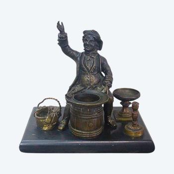 Bronze Tintenfass - Ende des 19. Jahrhunderts