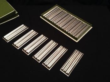 """12 porte-couteaux en métal argenté modèle """"Ondulations"""" Christofle"""