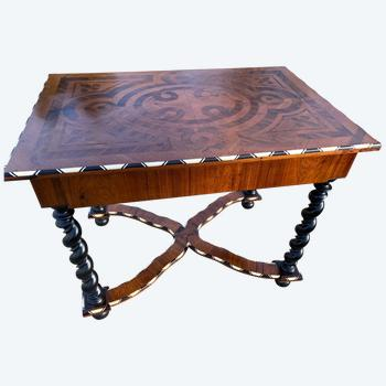 Louis XIII Style Office Table Napoleon III Period