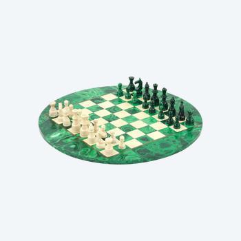 Jeu d'échecs en malachite