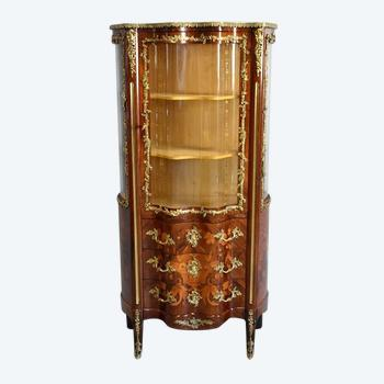 Vitrine Commode en Palissandre, style Louis XV, époque Napoléon III – Milieu XIXe