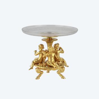 Napoleon III fruit bowl, ESCALIER DE CRISTAL PARIS.