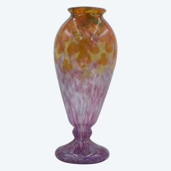 Charles Schneider – Grand vase « Jade » – Verre poudré – France, vers 1925.