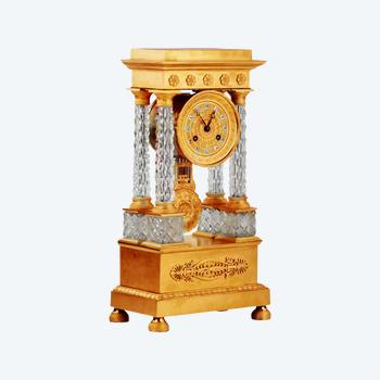 Empire style mantel clock