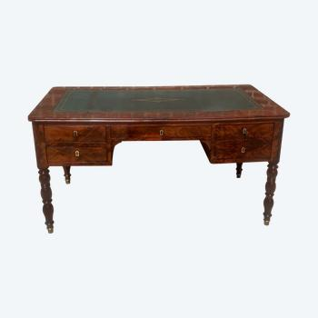 flat desk in flamed mahogany Jacob's feet from the restoration period