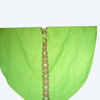 Chasuble et son étole de toile verte