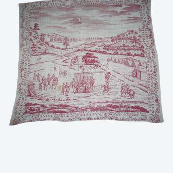 Mouchoir imprimé, Angleterre fin du 18e siècle