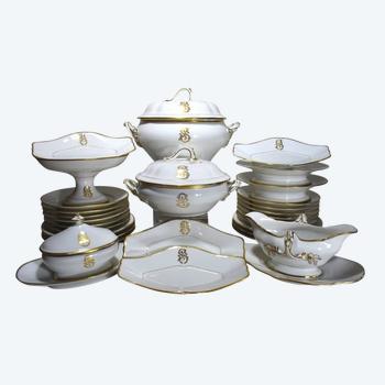 Partie De Service De Table En Porcelaine De Paris Napoléon III