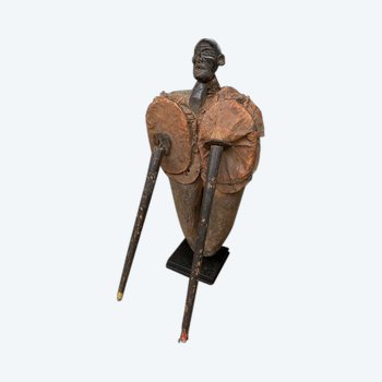 SOUFFLET de FORGE à visage ANTHROPOMORPHE Nigéria Première moitié du XXème siècle
