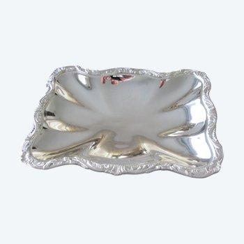Plateau ERCUIS métal argenté
