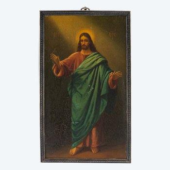 Icône du début du XXe siècle représentant le Christ Pantocrator