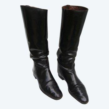 Paire de bottes d'équitation ancienne
