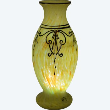 Legras – Signé Leg – Vase balustre