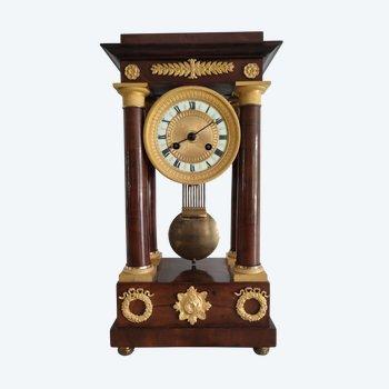 Pendule Napoeon 3 Acajoux et bronzes dorés