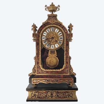 Cartel religieux et son socle en marqueterie boulle - Signé RAINGO FRERES - Bronzes dorés exceptionnels