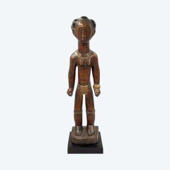 STATUETTE MASCULINE Culture Baoulé, Côte d'Ivoire Première moitié du XXème siècle