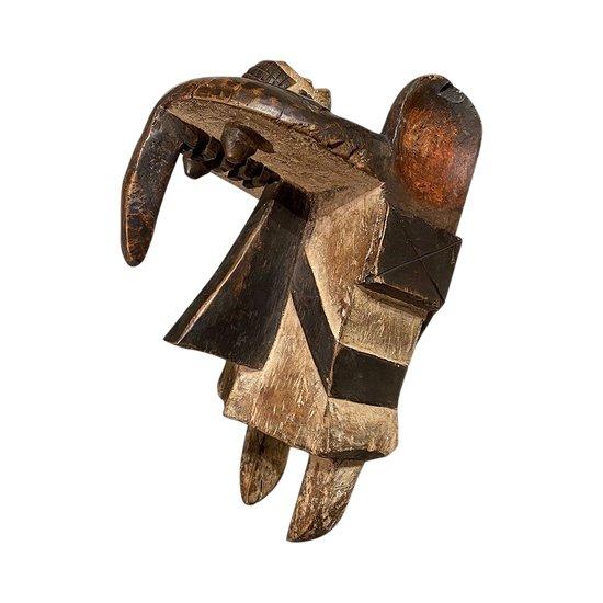ZOOMORPHISCHE MASKE Ogbodo Enyi Kultur Izi, Nigeria Erste Hälfte des 20. Jahrhunderts