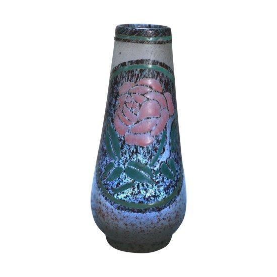 André Delatte - Vase - Frosted enamelled glass