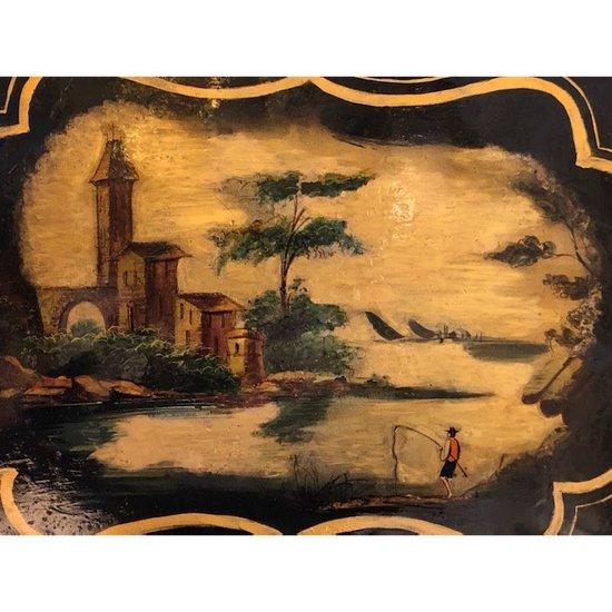 Plateau en tôle peinte milieu 19ème siècle