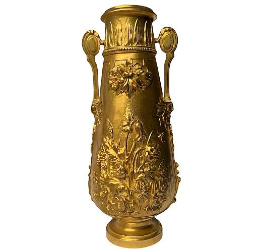 Vase balustre en Bronze doré Corrieaux