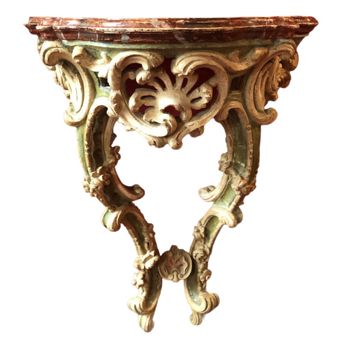 Rare small wall console, Louis XV period