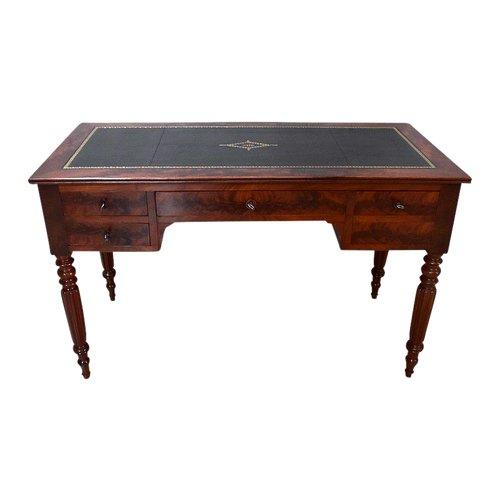 Kleiner flacher Schreibtisch aus Mahagoni, Louis Philippe-Zeit - Mitte des 19. Jahrhunderts