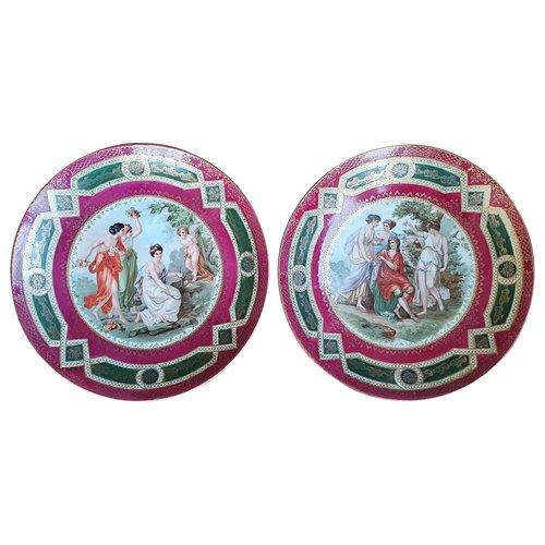 Deux plats en porcelaine de Bavière marqués PROV SXE ES
